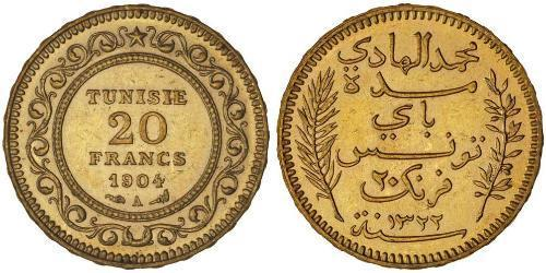 20 Franc Tunisie Or