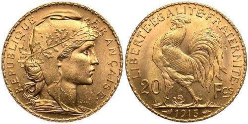 20 Franc Francia Oro