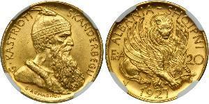 20 Franga Ari Albanian Republic (1925-1928) Gold
