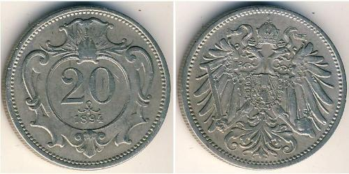 20 Heller Imperio austrohúngaro (1867-1918) Níquel