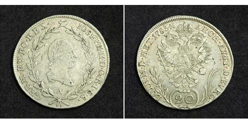 20 Kreuzer Sacro Romano Impero (962-1806) Argento Francis II, Holy Roman Emperor (1768 - 1835)