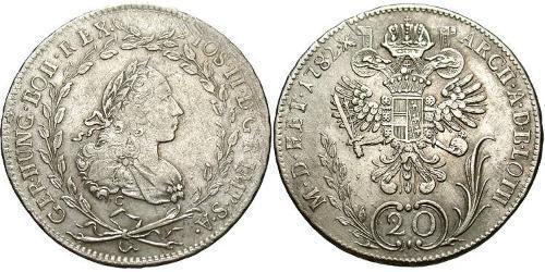 20 Kreuzer Austria  Billon