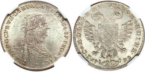 20 Kreuzer Electorate of Bavaria (1623 - 1806) Silver