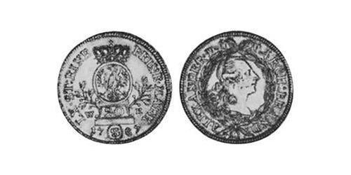 20 Kreuzer Principality of Ansbach (1398–1792) Silver Charles Alexander, Margrave of Brandenburg-Ansbach (1736 – 1806)