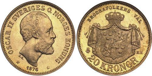 20 Krone Sweden Gold Oscar II of Sweden (1829-1907)