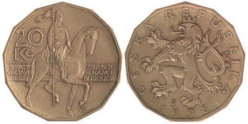 20 Krone Czech Republic Steel/Brass