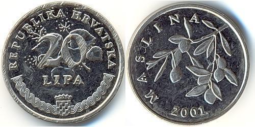 20 Lipa Croatia Steel/Nickel