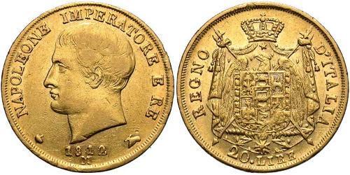 20 Lira Königreich Italien (1805–1814) Gold Napoleon Bonaparte(1769 - 1821)