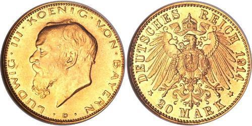 20 Mark Kingdom of Bavaria (1806 - 1918) Gold