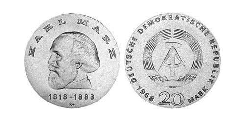 20 Mark German Democratic Republic (1949-1990) Silver