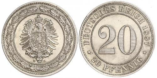 20 Pfennig Impero tedesco (1871-1918)