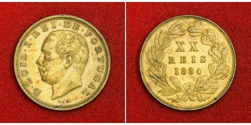 20 Reis Kingdom of Portugal (1139-1910) Bronze Luís I of Portugal (1838 - 1889)