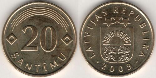 20 Santims Latvia (1991 - )
