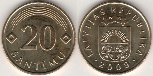 20 Santims Lettonia (1991 - )