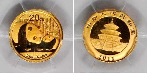 20 Yuan Chine Or