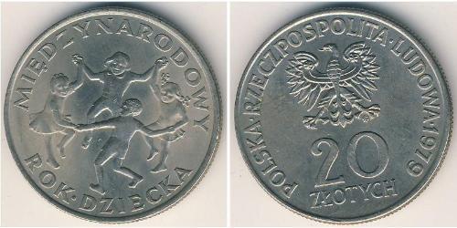 20 Zloty República Popular de Polonia (1952-1990) Níquel/Cobre