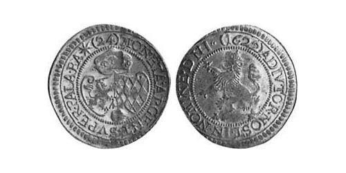 24 Kreuzer Duchy of Bavaria (907 - 1623) Silver Maximilian I, Elector of Bavaria (1573 – 1651)