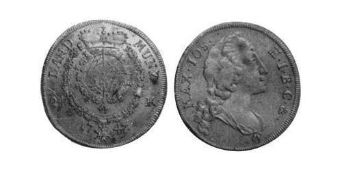 24 Kreuzer Electorate of Bavaria (1623 - 1806) Silver Maximilian III Joseph, Elector of Bavaria (1727 – 1777)