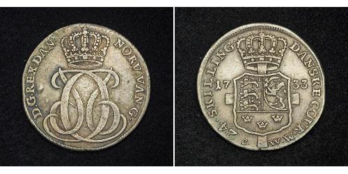 24 Skilling Denmark Silver