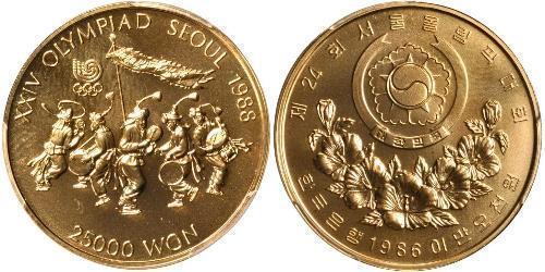 25000 Won Corea del Sur Oro