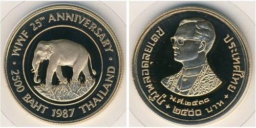 2500 Бат Таиланд Золото