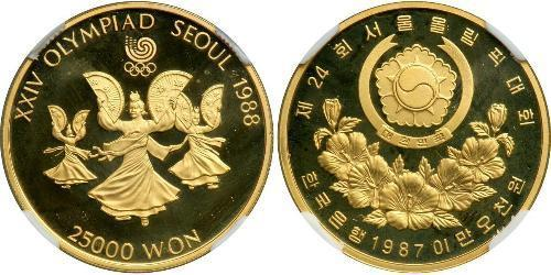 2500 Won South Korea Gold