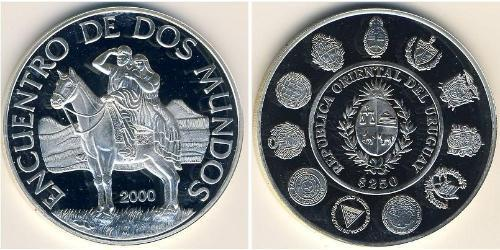 250 Песо Уругвай Серебро