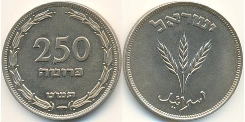 250 Прута Израиль (1948 - ) Никель/Медь