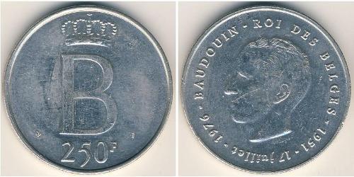 250 Франк Бельгия Серебро