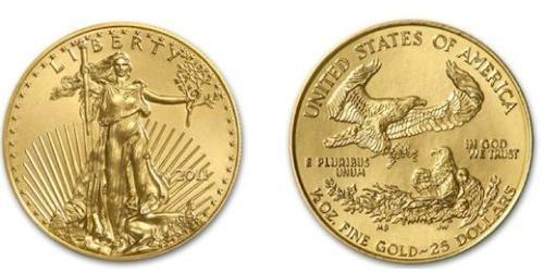 25 Долар США (1776 - ) Золото