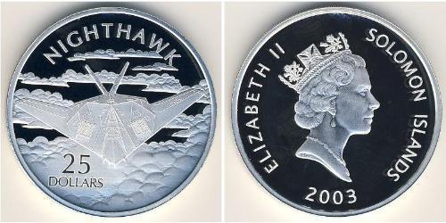 25 Доллар Соломоновы Острова Серебро