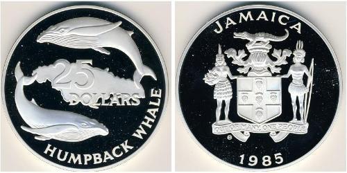 25 Доллар Ямайка (1962 - ) Серебро