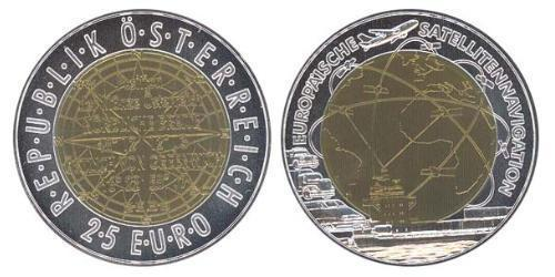 25 Евро Австрийская Республика(1955 - ) Биметалл