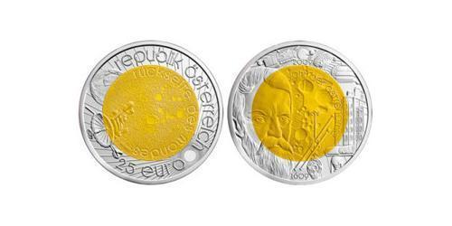 25 Евро Австрийская Республика(1955 - )  Галилео Галилей (1564 - 1642)