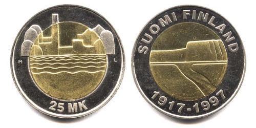 25 Марка Финляндия (1917 - ) Биметалл