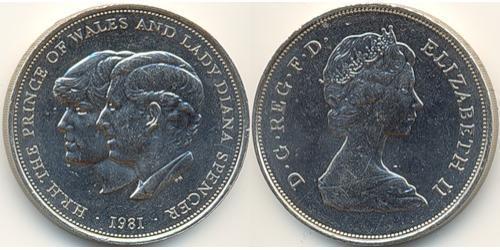 25 Пенни Великобритания (1922-) Никель/Медь Елизавета II (1926-)
