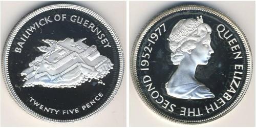 25 Пенни Гернси Серебро Елизавета II (1926-)