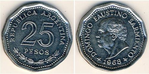 25 Песо Аргентинская Республика (1861 - ) Никель/Сталь