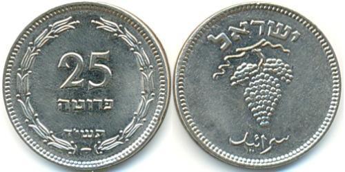 25 Прута Израиль (1948 - ) Никель/Медь