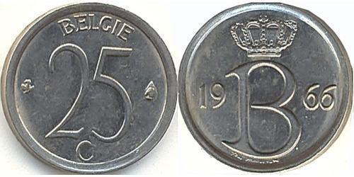25 Сантим Бельгия Никель/Медь