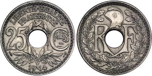 25 Сантим Третья французская республика (1870-1940)  Никель/Медь