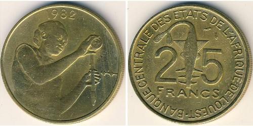 25 Франк Африканский союз Алюминий/Бронза