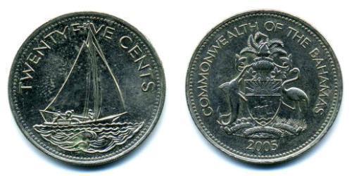 25 Цент Багамские о-ва Никель/Медь