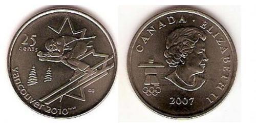 25 Цент Канада Никель/Медь