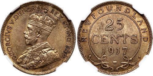 25 Цент Канада Срібло Георг V (1865-1936)