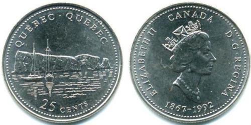 25 Цент Канада Сталь