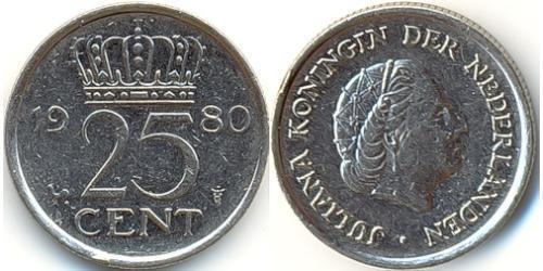 25 Цент Королевство Нидерланды (1815 - )