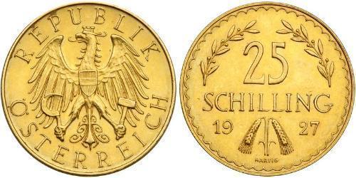 25 Шиллинг Первая Австрийская Республика (1918-1934) Золото