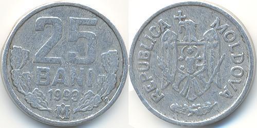 25 Ban Moldavia (1991 - ) Aluminio
