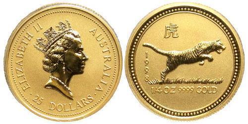 25 Dollar Australia (1939 - ) Gold Elizabeth II (1926-)